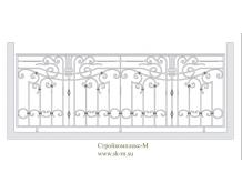 Кованое балконное ограждение, артикул Б-011