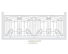 Кованое балконное ограждение, артикул Б-012