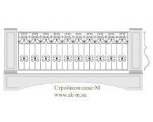 Кованое балконное ограждение, артикул Б-018