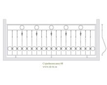 Кованое балконное ограждение, артикул Б-002