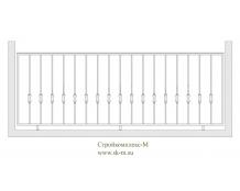 Кованое балконное ограждение, артикул Б-005