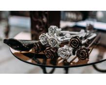 Кованая роза из металла