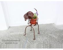 Подставка для цветов Собака