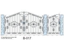 Кованые ворота, артикул В-017