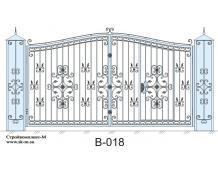Кованые ворота, артикул В-018