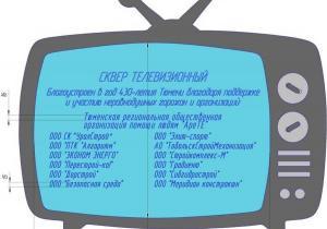 Арт-объекты в Телевизионном сквере