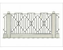 Кованый забор - З 011