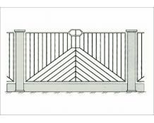 Кованый забор - З 012