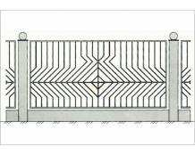 Кованый забор - З 013