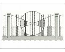 Кованый забор - З 014