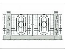 Кованый забор - З 016