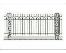 Кованый забор - З 017