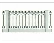 Кованый забор - З 018