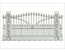 Кованый забор - З 019