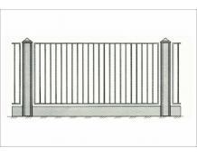 Кованый забор З-001