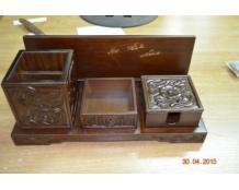 Деревянный органайзер для рабочего стола