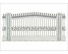 Кованый забор - З 020
