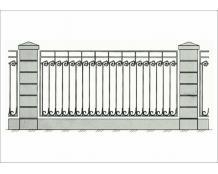 Кованый забор - З 021