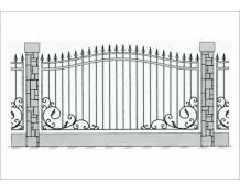 Кованый забор - З 022
