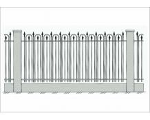 Кованый забор - З 023