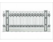 Кованый забор - З 025