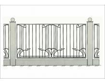 Кованый забор - З 026