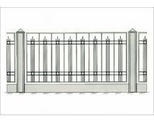 Кованый забор - З 029
