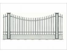 Кованый забор - З 002