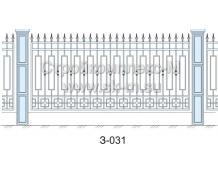 Кованый забор З-031