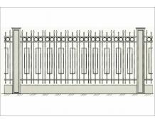 Кованый забор - З 030