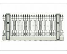 Кованый забор - З 031