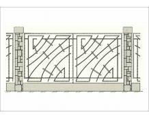 Кованый забор - З 032