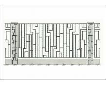 Кованый забор - З 033