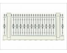 Кованый забор - З 034
