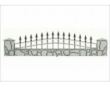 Кованый забор - З 037