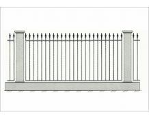 Кованый забор - З 003