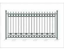 Кованый забор - З 044