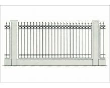 Кованый забор - З 004