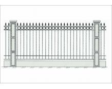 Кованый забор - З 005