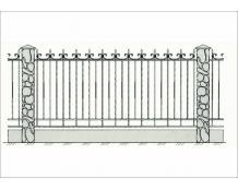 Кованый забор - З 006