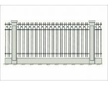 Кованый забор - З 007