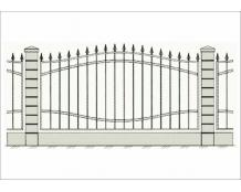 Кованый забор - З 008