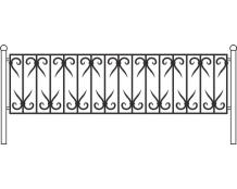 Кованая ограда, артикул Ог-05