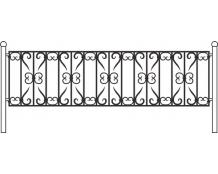 Кованая ограда, артикул ог-07