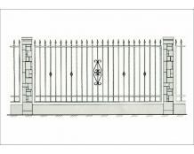 Кованый забор - З 009