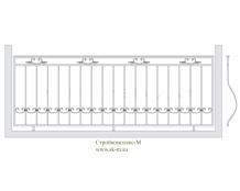 Кованое балконное ограждение, артикул Б-001
