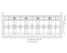 Кованое балконное ограждение, артикул Б-013