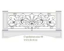 Кованое балконное ограждение, артикул Б-022