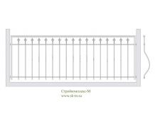 Кованое балконное ограждение, артикул Б-003