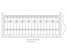 Кованое балконное ограждение, артикул Б-004